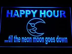 ADVPRO Cartel Luminoso m088-b Happy Hour Blue Moon Neon Light Sign