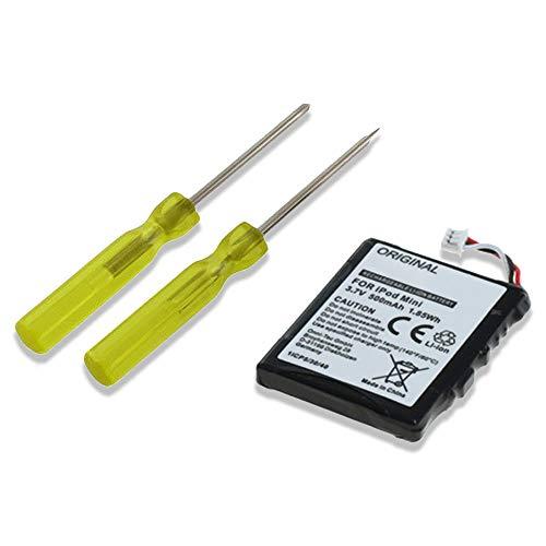 subtel® Batería Premium Compatible con Apple iPod Mini 1 Gen. iPod Mini 2 Gen. A1051, EC003,EC007 500mAh + Juego de Destornilladores Pila Repuesto bateria