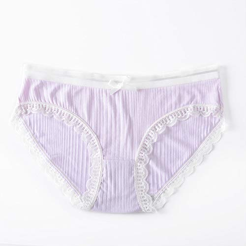 Buy and buy at Brandon Seamless Ice Silk Panties Women Comfortable Breathable sexy lace Panties Women Striped mid-Rise Ladies briefsPinkOne Size