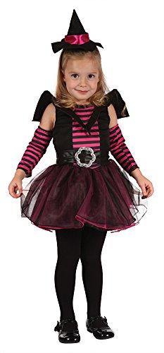 Bristol Novelty Cc066 Costume de sorcière Mignonne pour Enfant Robe, Rose, XS