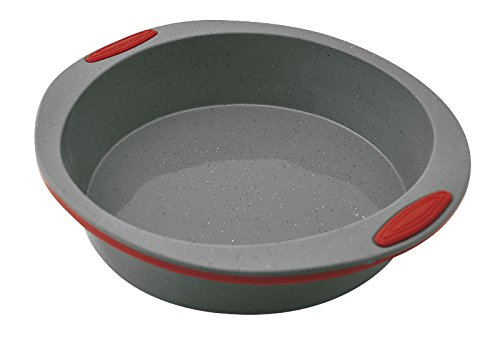 Jata Hogar Molde para repostería y Cocina, Silicona, modelo MC65, Gris y Rojo, 23 cm