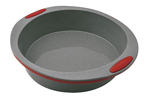 Jata Hogar Moule à gâteaux en Silicone Gris/Rouge 23 cm