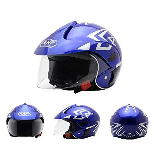 rosemaryrose Casco De Moto para Niños Casco Moto Electrica para Niños para Halley Medio Casco Seguridad Otoño E Invierno Casco Niños