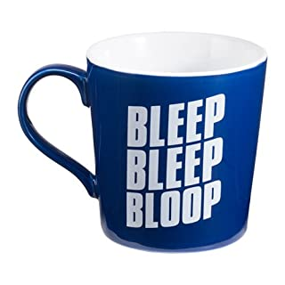 Vandor Set of Star Wars, Blue And White 12oz Ceramic R2D2 Mugs,Bleep Bleep Bloop 5 Inches Long by 3.75 Inches Tall by 3.75 Inches in Diameter