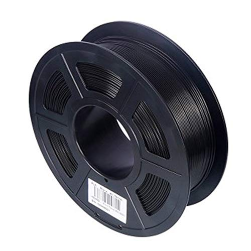 Saicowordist 3D Printer Filament -3D Printing Material 1.75mm PLA Filament, Printing Materials, 3D Printing Filament PLA for 3D Printer 1kg(Black)