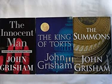 Set of Three Lighter Book Club Edition Fiction and Non-Fiction Works by John Grisham: The Summons (2002), The Innocent Man (2006), and The Appeal (2008)