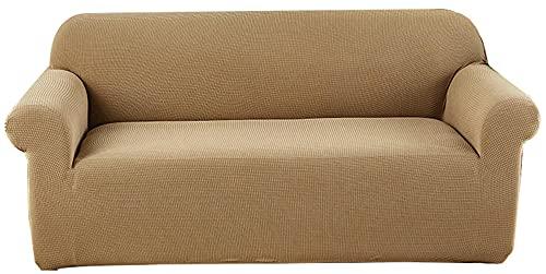 HXTSWGS Funda elástica para sofá,Funda de sofá Impermeable, sofá Moderna Funda de sofá para Mascotas, con Fondo elástico, Funda de protección Antideslizante para Muebles-Amber_235-290CM