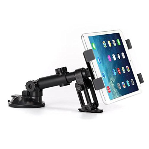 Premium Car Mount Dash Holder Swivel Cradle Dashboard Dock Stand for iPad, iPad Air, Mini, Pro 9.7 10.5 - LG G Pad F F2 X X2 - Verizon Ellipsis - Samsung Galaxy Tab - All Tablets from 7 to 11 inch