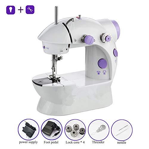 SHIXUE elektronische naaimachine mini, elektrische naaimachine wordt gebruikt voor het naaien thuis, DIY (verlichtingsfunctie + voetpedaal)