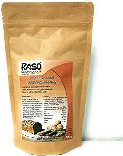 Brot - VERSANDKOSTENFREI - Brotbackmischung Dinkel - Kartoffel  Kurkuma uvm von RASO - Ohne Kneten, ohne gehen lassen 500g - Einfach und schnell zubereitetes gesundes Brot