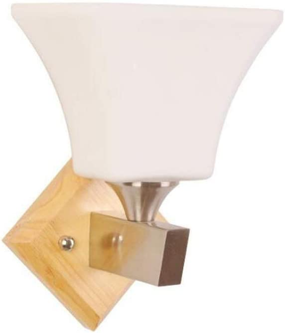 Wall 2021new shipping Recommendation free lamp Nordic Solid Wood Lampshade Sconce Glass Bedroom