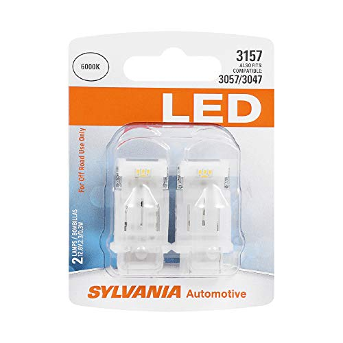 SYLVANIA 3157 White LED Bulb, (Contains 2 Bulbs)