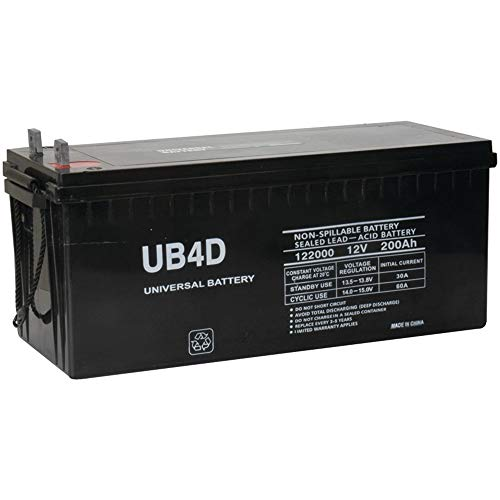 Universal Power Group 12V 200Ah 4D SLA AGM Battery Replacement for Solar Systems