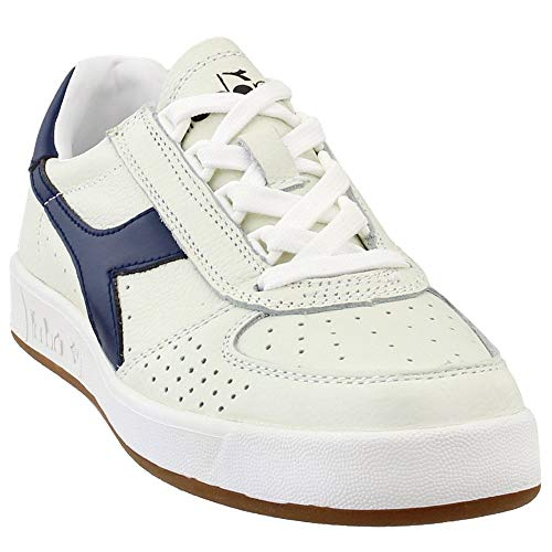 Diadora Mens B.Elite L Casual Sneakers, Off White, 6.5