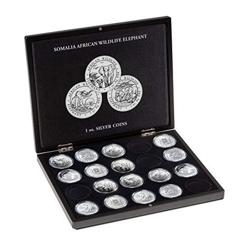 Leuchtturm Münzkassette für 20 Somalia Elefant Silbermünzen (1 Oz.) in Kapseln