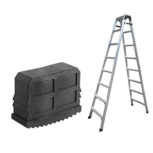 Broco Patas Escalera, 2 Unids/par Goma Antideslizante Reemplazo Escalera Pies Pie Alfombrilla Suela Cojín Negro
