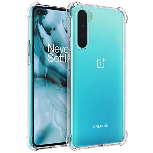 Osophter for Oneplus Nord 5G Case,Oneplus 8 Nord Case,Oneplus Z Case Clear Transparent Reinforced Corners TPU Shock-Absorption Flexible Cell Phone Cover for Oneplus Nord(Clear)