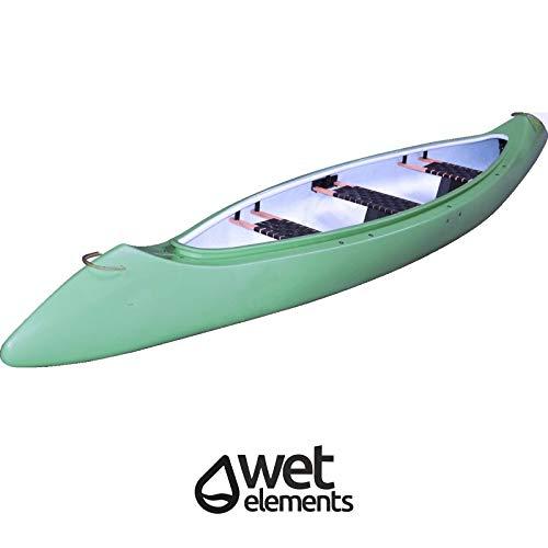 Saarwebstore Wet-Elements Kanu Mikado III PE Kunststoff für 3 Personen Paddelboot Angelkanu Kajak Freizeitkanu Canadier Farbe Grün