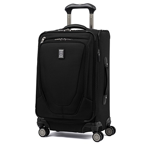Travelpro Crew 11-Softside Expandable Luggage with Spinner Wheels, Black