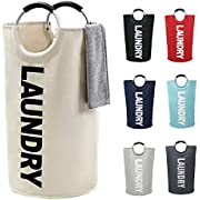 ZERO JET LAG Large Laundry Basket(L,XL,7 Colors) Collapsible Fabric Laundry Hamper Tall Foldable Laundry Bin