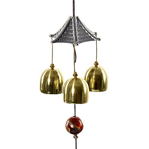 Bells Wind Chimes, Xinantime Great Sound Bronze Color Bells Wind Chimes for Yard Garden Outdoors Home Room Decor Hanging Ornament Gift (A)