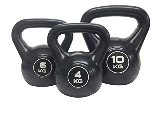 HIKS Pure Kettle Bell Fitness Weights Available in 3 sizes 4kg, 6kg, 10kg for Weight training and fitness (4KG)