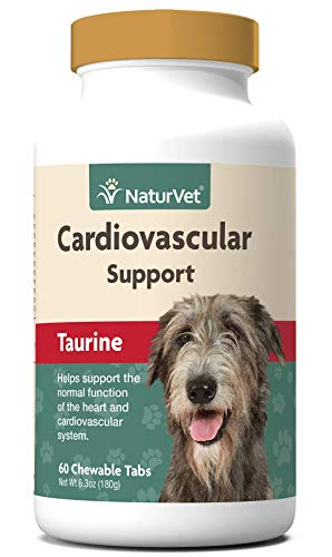 NaturVet – Cardiovascular Support Plus Taurine for Dogs – Helps Support Normal Function of Heart and Cardiovascular System – 60 Chewable Tablets