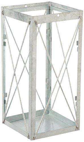 Esschert Design Altzink Lantaarn, 35 cm, antiek zink, glas, zink, 17,2 x 17,2 x 36,5 cm