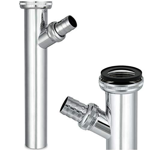Siphonly® Verstellrohr | Sifon-Verlängerung | Siphon-Tauchrohr mit Ablaufanschluss aus hochwertigem Messing |1 1/4