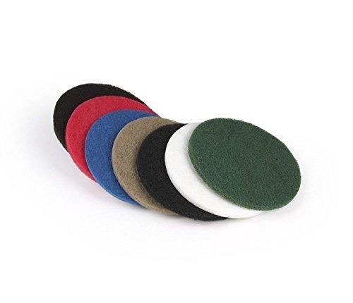 Superpad Maschinenpad 330 mm - 13 Zoll schwarz (5 Stück) für Boden-Poliermaschine Teller-Maschine Einscheiben- Reinigungs- hart zum Schrubben Grundreinigungspad Putzpad Schrubbpad Reinigungspad Stein