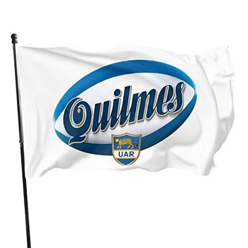 Shenhui Quilmes - Bandera de Cerveza, 3 x 5 pies, 100% poliéster, Negro, Talla única