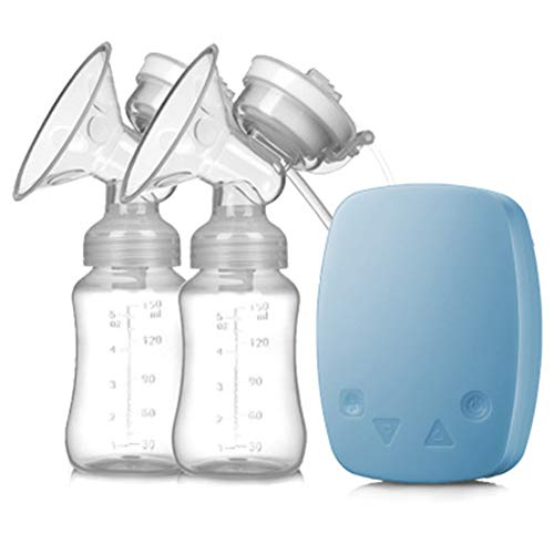 New Lucun Electric Breast Pump, Double Breast Pump Intelligent Massage Touch USB Charging Milking Ma...