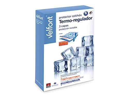 Velfont Protector de Colchón Termo-regulador Outlast Impermeable de 3 Capas (Cama 150cm)