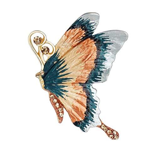 H-ei Broche, Forma de Mariposa Europea y Americana, aleación respetuosa con el Medio Ambiente, Temperamento Broche Bufanda Chal Hebilla, Vestido Broche decoración, Regalo de cumpleaños
