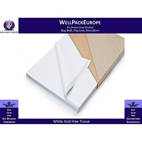 Acid Free Tissue Packing Paper White - (Pack x 480 Sheets) *** Next Day UK DELIVERY *** - 500MMx750MM - **Visit Our Exciting Amazon Catalogue - Search > Wellpack Europe