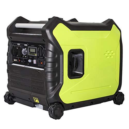 HIOD Stromerzeuger Notstromaggregat Stromaggregat Stromgenerator 3500w Leiser Benzinerzeuger 220v 3.5 kva Notfall-Inverter-Generator zum Draussen Camping Zuhause Rv