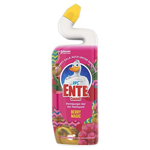 WC-Ente Total Aktiv Gel, Flüssiger WC-Reiniger, Toilettenreiniger, Berry Magic, 750 ml
