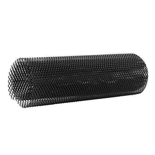 Qii lu 1 * Aluminiumlegierung 4 * 8mm Auto Kühlergrill (Universal Car Mesh Net Grid Körper Stoßstange Rhombic Grill) schwarz