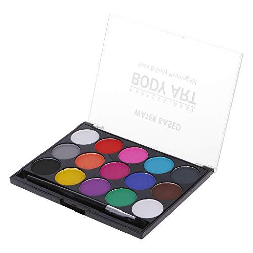 MB-LANHUA 15 Couleurs Peinture Corporelle Maquillage Peinture Faciale Eau Encre Huile Graffiti avec Brosse