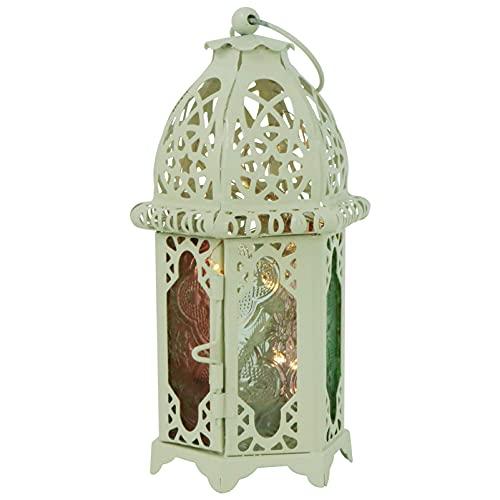 HSJWOSA Sensibilidad 1 unids Caus de Vela con Luces de Cadena Decoración Vintage Iron Vela Elegante Linterna Titulares de Velas compatibles con la Boda de la Fiesta en casa Multicolor