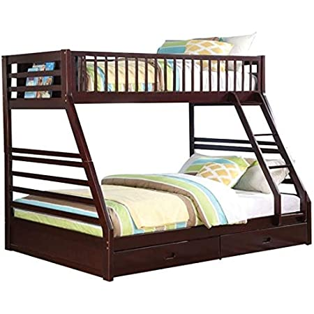 Amazon Com Pemberly Row Twin Xl Over Queen Bunk Bed In Espresso Furniture Decor