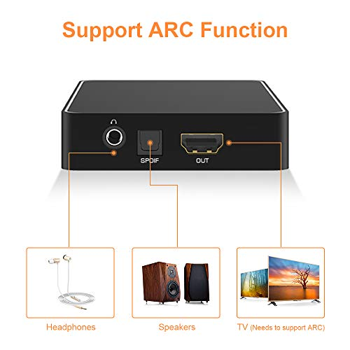 KLKE HDMI Switch with Audio ARC 4K HDR 6 in 1 Out HDMI Switcher with IR Remote Control Support 4K @30hz 3D HD 2160P 1080P for PS4 Xbox Apple TV Fire Stick
