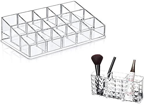 Recet Joyero para mujer, caja de almacenamiento cosmética, organizador para esmalte de uñas, maquillaje, almacenamiento (C)