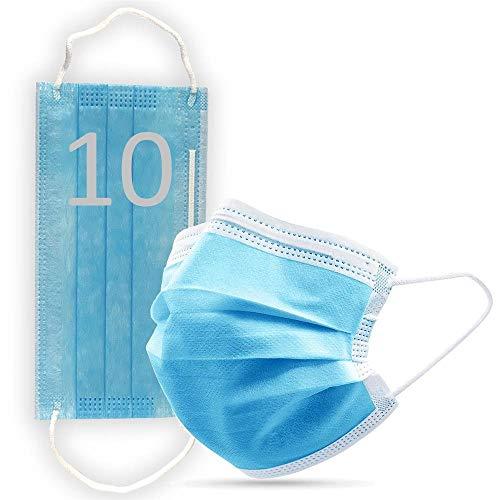 Máscara quirúrgica, bolsa de sellado, higiénica para la cara, protección de la salud, uso médico en el coche azul M