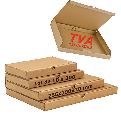 JECO® Boite postale extra plate 255x190x30 mm boite carton expédition format lettre épaisseur 3cm 30mm (10)