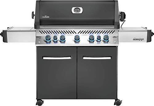 Napoleon P665RSIBNCH Prestige 665 Infrared Side and Rear Burners, Natural Gas Grill, sq, Charcoal Grey - Assembly Free Gas Grill Grills Natural UDS