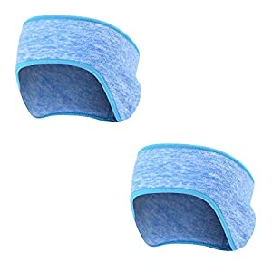TAGVO Winter Fleece Headband Ear Warmer, Lightweight Warm Cozy Ear Muffs with Full Cover, Stretch to Size Non-Bulky Snug Fit for Adults Men Women for Running Riding Skiing Outdoors Sports