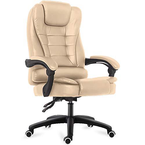 ZZLONG Gaming Chair bureaustoel Reclining Ergonomische PU lederen bureaustoel Racing Swivel Computer stoel met verstelbare hoofdsteun en Lumbar ondersteuning