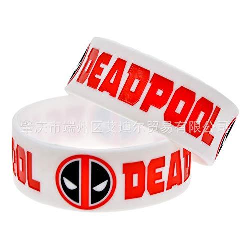 Xlin Dead Pool 1 Pulgada de Ancho Deadpool Silicona Correa de Pulsera de animación Regalo