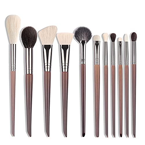 Pinceau de surbrillance pour cheveux de chèvre Blush Blender Pinceau de maquillage Poudre libre Mélange Outil de maquillage pour joues douces - BXN05